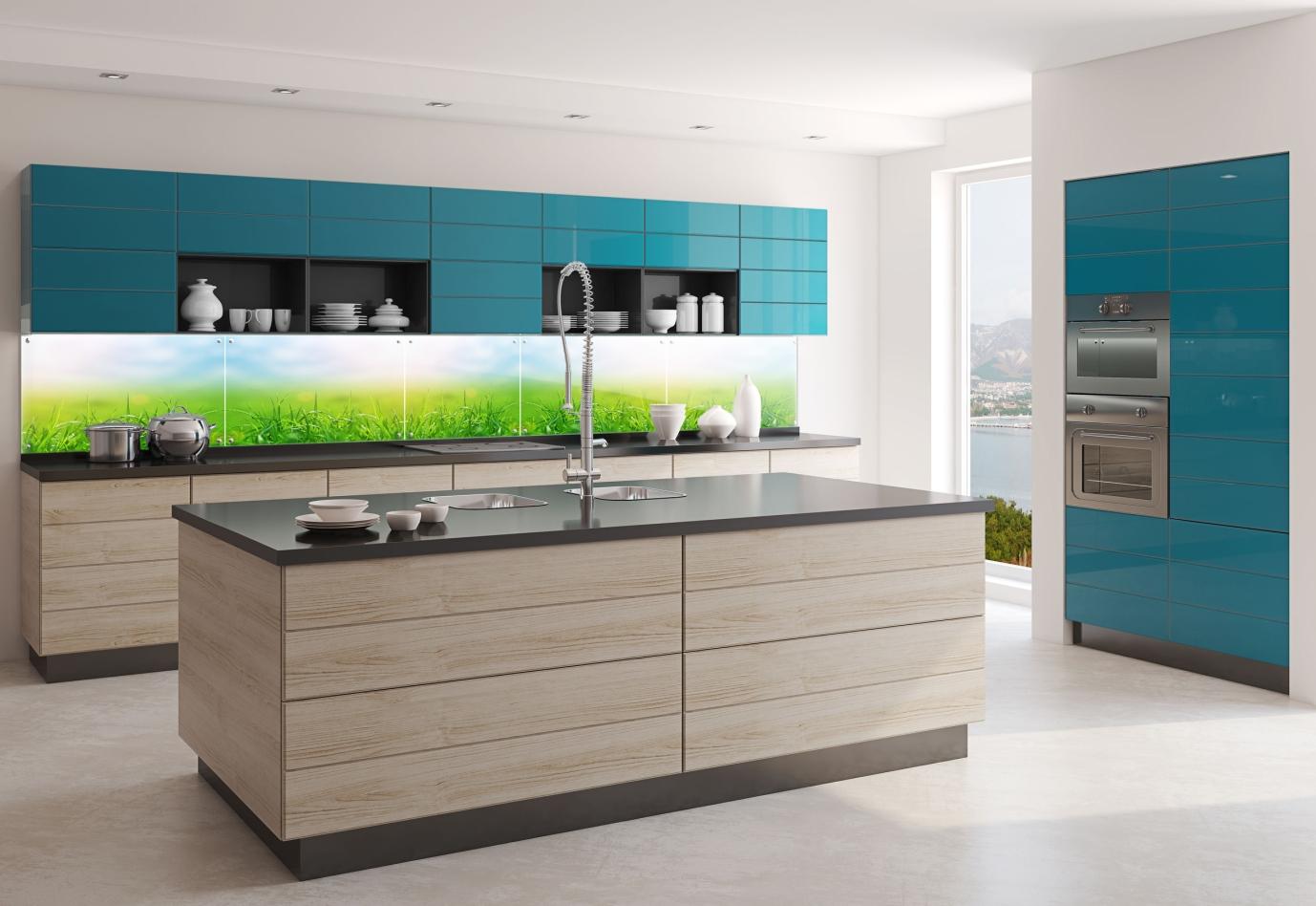 glas deco k chenr ckwand glasbild fliesen f r die k che. Black Bedroom Furniture Sets. Home Design Ideas