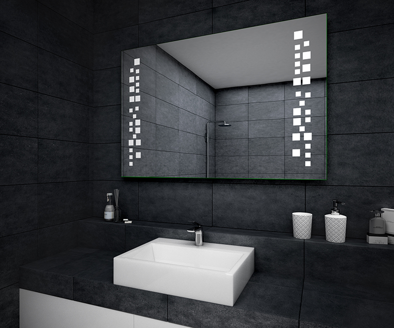 badspiegel mit led beleuchtung wandspiegel. Black Bedroom Furniture Sets. Home Design Ideas