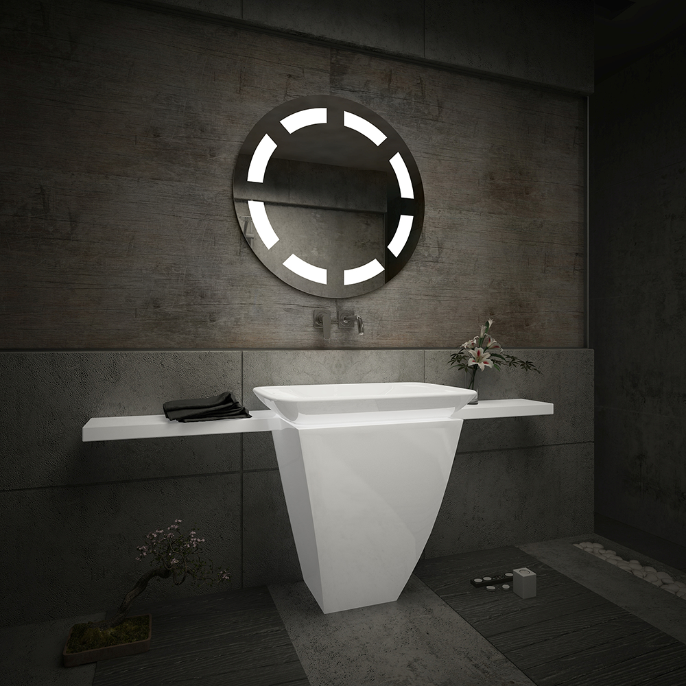 badspiegel mit led beleuchtung wandspiegel badezimmerspiegel lichtspiegel m34 ebay. Black Bedroom Furniture Sets. Home Design Ideas