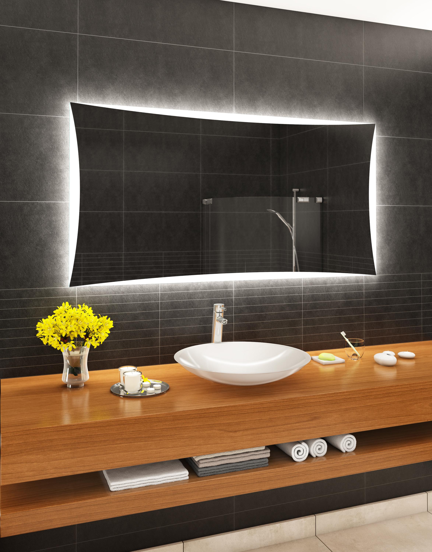 Badspiegel mit LED Beleuchtung Badezimmerspiegel Wandspiegel nach ...