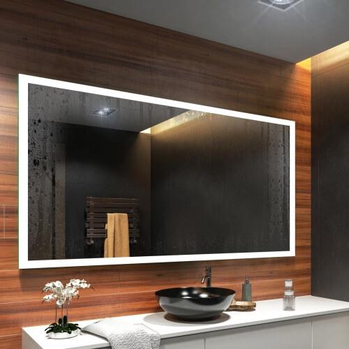 badspiegel mit led beleuchtung wandspiegel badezimmerspiegel spiegel nach ma ebay. Black Bedroom Furniture Sets. Home Design Ideas