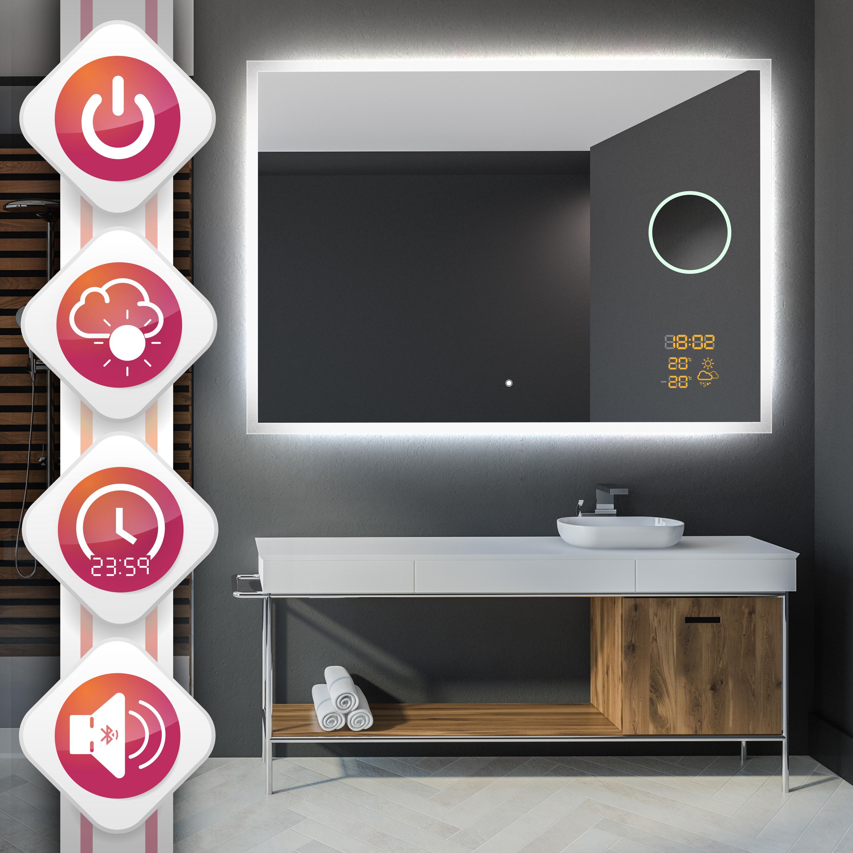 Badezimmer Lautsprecher L01 Badspiegel Mit Led Beleuchtung