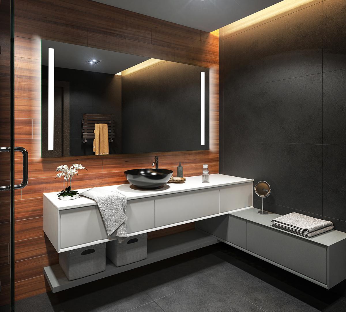 badspiegel mit led beleuchtung wandspiegel spiegel badezimmerspiegel nach ma 02 ebay. Black Bedroom Furniture Sets. Home Design Ideas