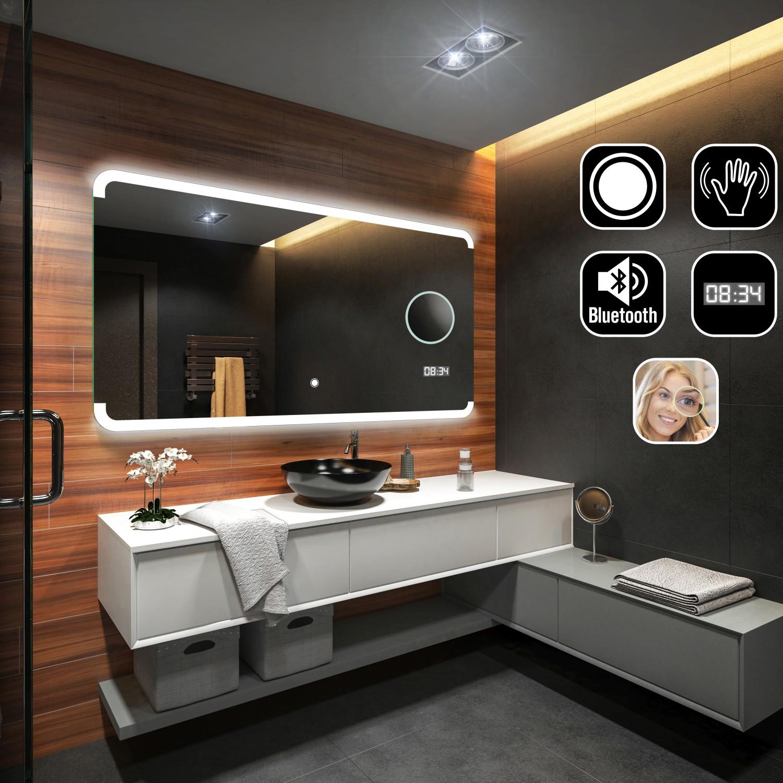 badspiegel mit led beleuchtung wandspiegel lichtspiegel. Black Bedroom Furniture Sets. Home Design Ideas