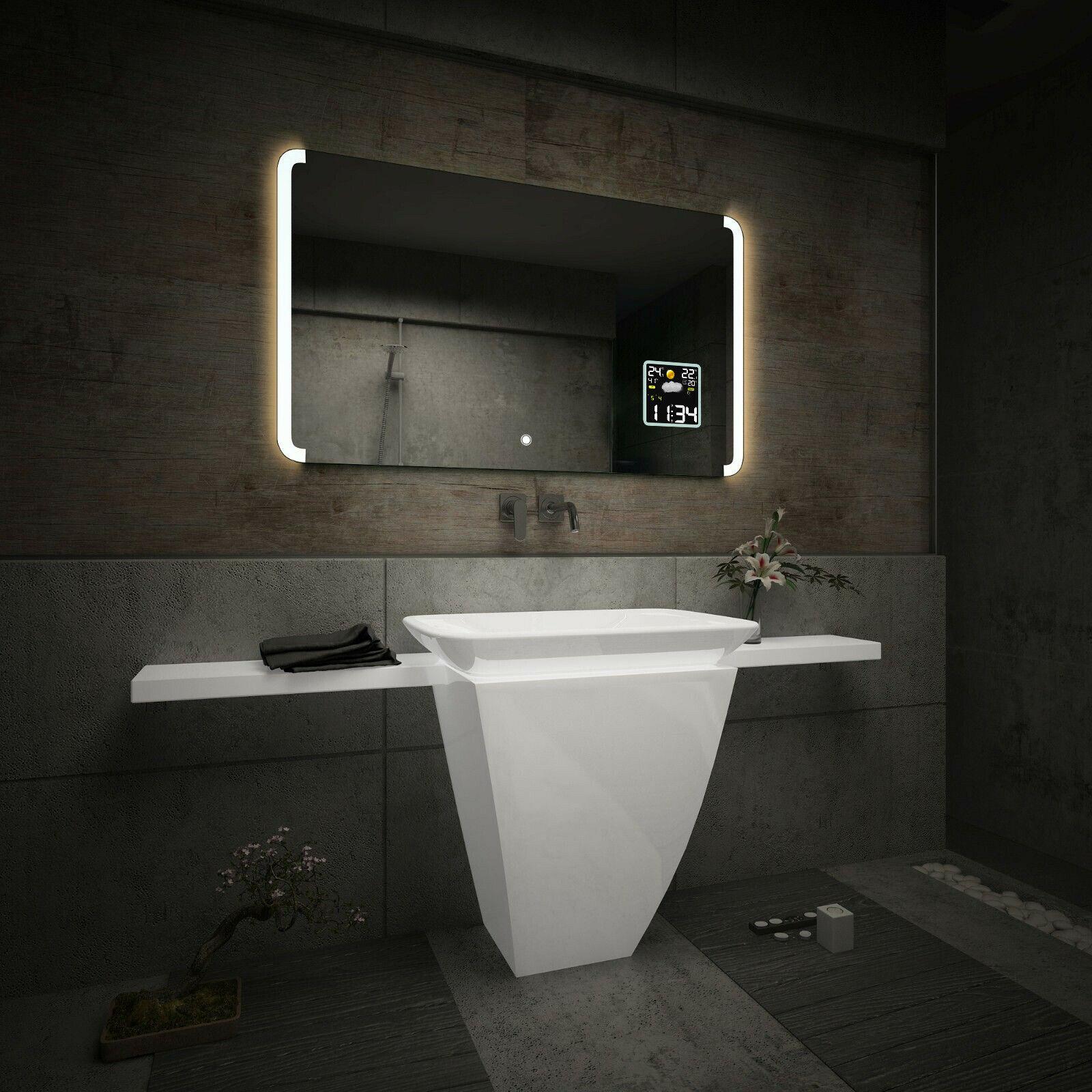 Luci Per Lo Specchio Del Bagno.Details Zu Specchio Del Bagno Illuminazione Led Interrutore Accessori Per Lo Specchio L72