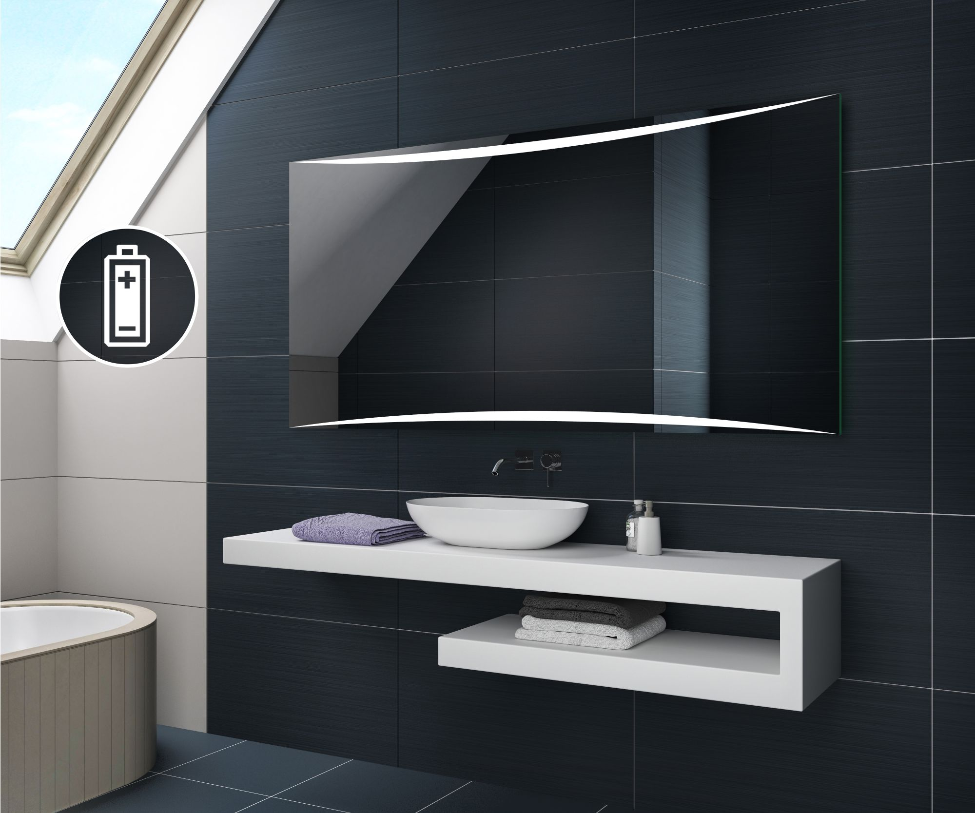 Battery Operated Led Bathroom Mirrors