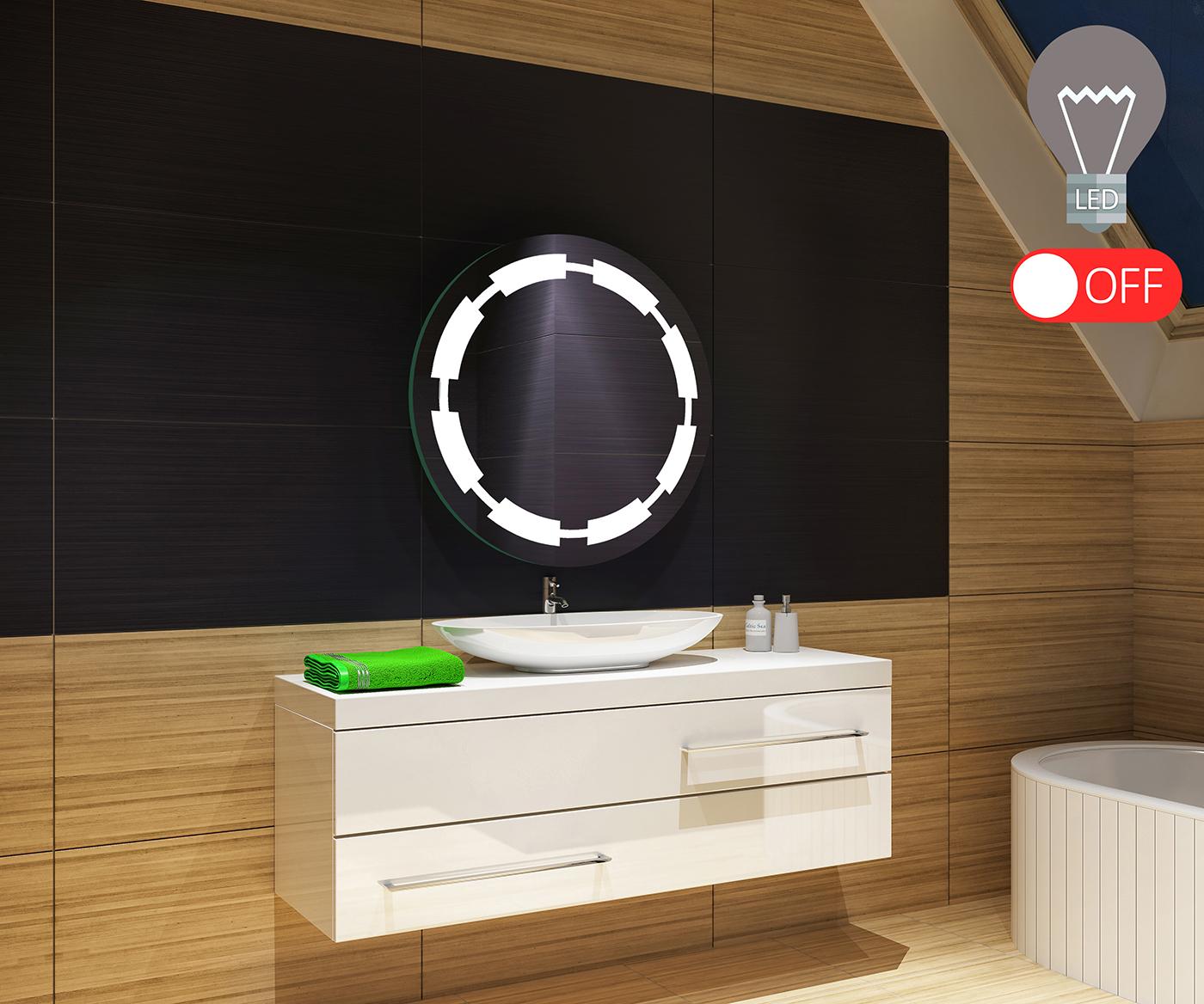 Maß Badezimmerspiegel Maß Led Badspiegel Mit Spiegel