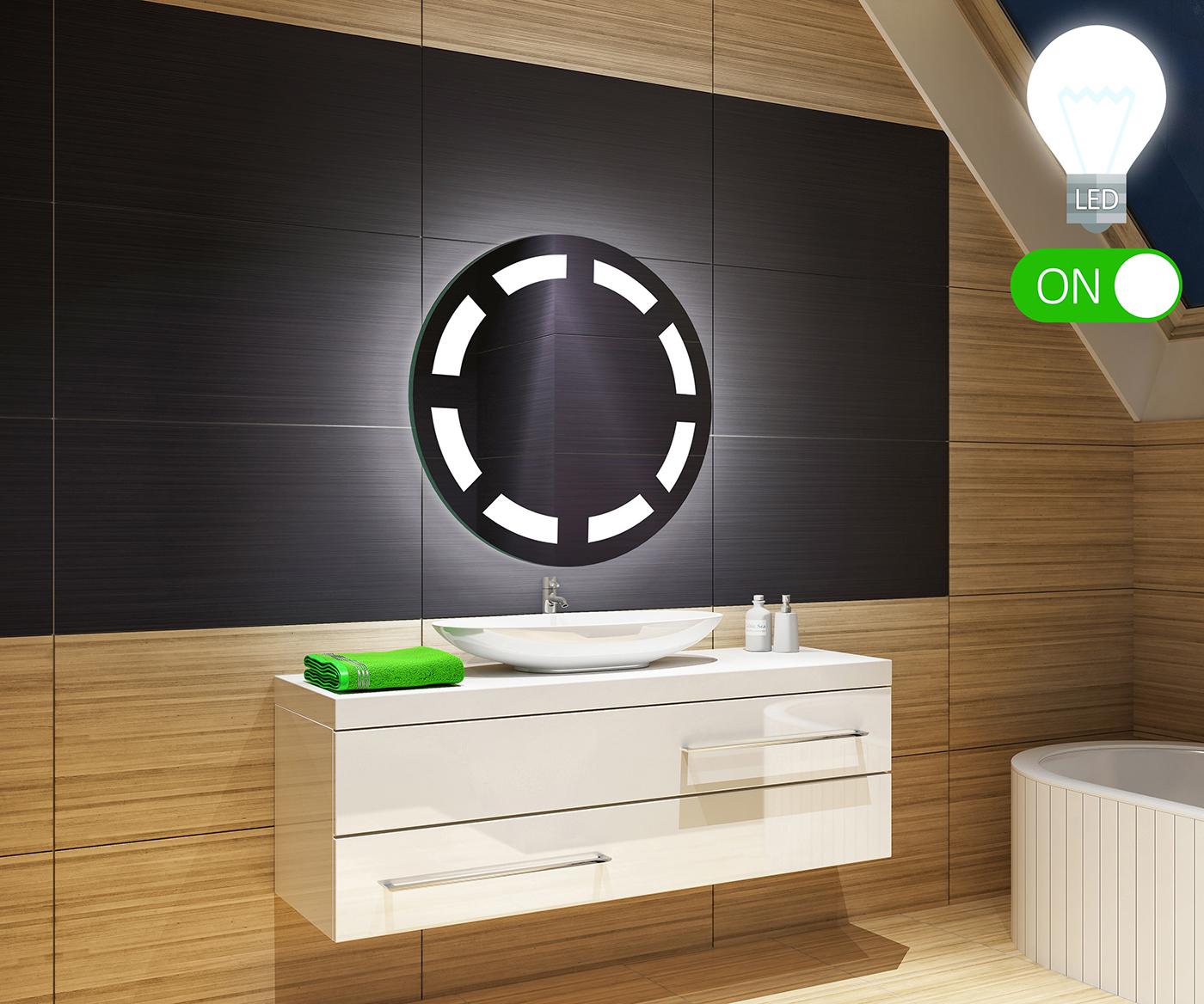 CAPTEUR DACTIVATION Illumination LED miroir muraux sur mesure eclairage salle de bain STATION M/ÉT/ÉO S2